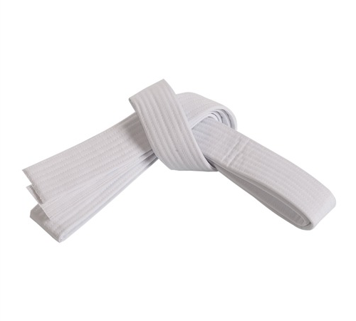 Double wrap white belt